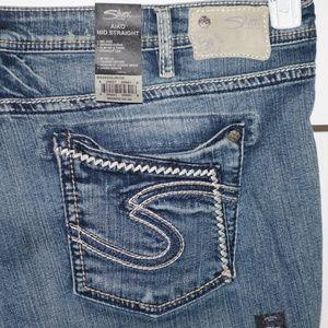 Silver Aiko womens jeans size 24 plus Long -371-